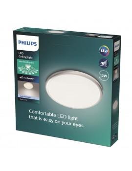 Plafón gris Philips Twirly...