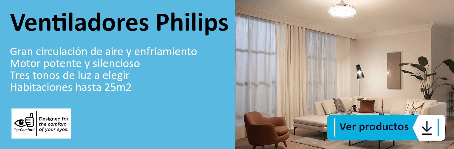 Ventiladores Philips, luz y confort